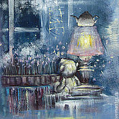 Картины и панно ручной работы. Ярмарка Мастеров - ручная работа Тихим поздним вечером замерев от счастья.... Handmade.