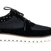 Обувь ручной работы. Ярмарка Мастеров - ручная работа Кроссовки  Say Black. Handmade.