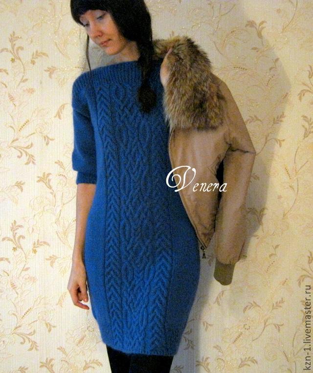 Вязаное платье ручная работа цена за