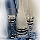 Свадебные аксессуары ручной работы. Свадебное оформление бутылки в морском стиле. Ксения. Ярмарка Мастеров. Морская тема, свадебные аксессуары