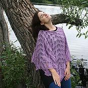 Одежда handmade. Livemaster - original item Delicate openwork poncho. Handmade.