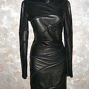 Одежда ручной работы. Ярмарка Мастеров - ручная работа платье кожаное. Handmade.