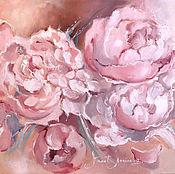 Картины и панно handmade. Livemaster - original item Cream in pink. Peonies. Handmade.