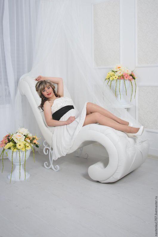 Мебель ручной работы. Ярмарка Мастеров - ручная работа. Купить кресло на ковке с каретной стяжкой. Handmade. Белый, Ковка
