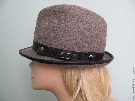 """Шляпы ручной работы. Ярмарка Мастеров - ручная работа. Купить Шляпа """"Универсал 2"""". Handmade. Серый, натуральная кожа"""