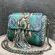 Классическая сумка ручной работы. Ярмарка Мастеров - ручная работа Сумочка из кожи питона. Handmade.