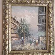 handmade. Livemaster - original item Lovely oil painting on the host-Paris. Handmade.