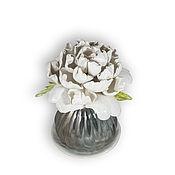 Для дома и интерьера handmade. Livemaster - original item White peony for aroma diffuser. Handmade.