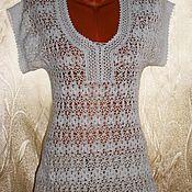 Одежда handmade. Livemaster - original item Top. Tunic. White night. Hook.. Handmade.