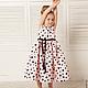 Одежда для девочек, ручной работы. Ярмарка Мастеров - ручная работа. Купить Шикарный розовый долматин детское платье из прокатного атласа. Handmade.