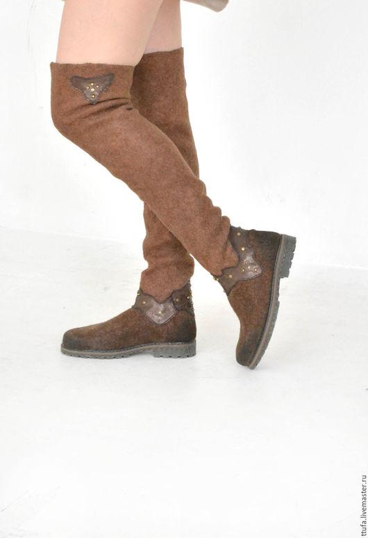 Обувь ручной работы. Ярмарка Мастеров - ручная работа. Купить Валяные ботфорты