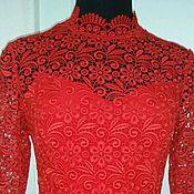 Одежда ручной работы. Ярмарка Мастеров - ручная работа 078:Красное кружевное платье, вечернее платье из кружева. Handmade.