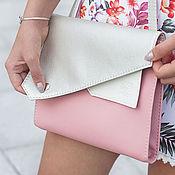 """Сумки и аксессуары ручной работы. Ярмарка Мастеров - ручная работа Сумка через плечо """"Frida"""", серебристая сумка, розовая сумочка. Handmade."""