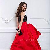 Одежда ручной работы. Ярмарка Мастеров - ручная работа Красная юбка в пол. Handmade.