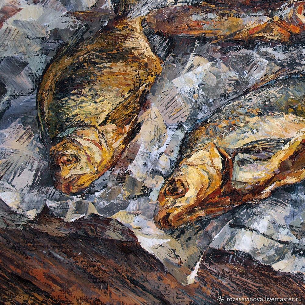 картина рыбы маслом задержали при