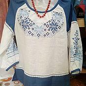 Русский стиль ручной работы. Ярмарка Мастеров - ручная работа блузка с вышивкой. Handmade.