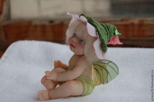Коллекционные куклы ручной работы. Ярмарка Мастеров - ручная работа. Купить Феечка  - малявочка! :). Handmade. Феечка, куколка, девочка