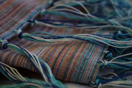 """Шали, палантины ручной работы. Ярмарка Мастеров - ручная работа. Купить Палантин (шарф) из хлопка и льна """"Четыре сезона"""". Handmade."""
