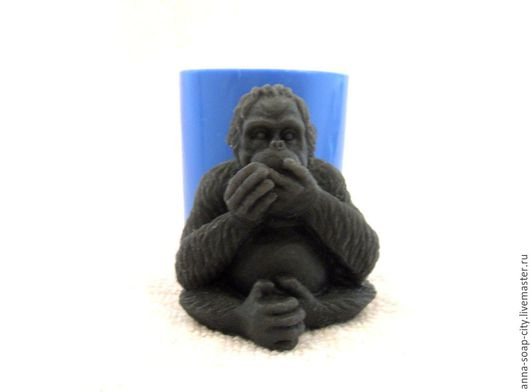 """Другие виды рукоделия ручной работы. Ярмарка Мастеров - ручная работа. Купить Силиконовая форма для мыла """"Горилла"""". Handmade."""