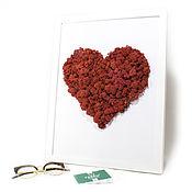 Картины и панно handmade. Livemaster - original item Moss Art-Heart. Handmade.