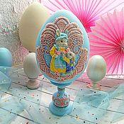 """Яйца ручной работы. Ярмарка Мастеров - ручная работа Яйцо """"Пасхальный кролик"""". Handmade."""