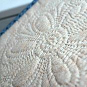 """Для дома и интерьера ручной работы. Ярмарка Мастеров - ручная работа Прихватка с ручной стёжкой """"Нежный цветок"""". Handmade."""