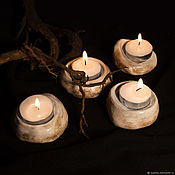 Подсвечники ручной работы. Ярмарка Мастеров - ручная работа Керамические подставки для свечей Камни. Handmade.