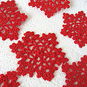 Подарки к праздникам ручной работы. Ярмарка Мастеров - ручная работа Снежинки вязаные крючком для декора. Handmade.