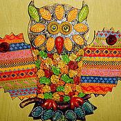 """Для дома и интерьера ручной работы. Ярмарка Мастеров - ручная работа Вешалка""""Сова На ветке""""2.. Handmade."""