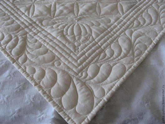 """Пледы и одеяла ручной работы. Ярмарка Мастеров - ручная работа. Купить Лоскутное детское одеяло-покрывало """"Все оттенки белого!"""". Handmade."""