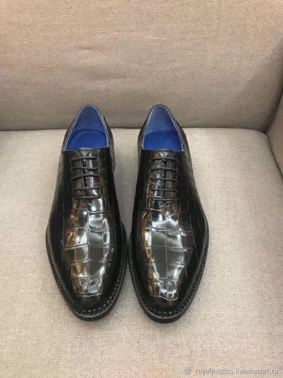 Men's shoes, classic, crocodile leather, Shoes, Tosno,  Фото №1