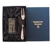 "handmade. Livemaster - original item Набор ""Знаки Зодиака. Овен"" стопка  и закусочная вилка в футляре. Handmade."