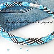 Украшения handmade. Livemaster - original item Crocheted wiring beaded necklace
