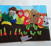 """Куклы и игрушки ручной работы. Ярмарка Мастеров - ручная работа Сказка """"Репка"""" пальчиковые игрушки. Handmade."""