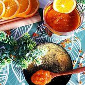Скрабы ручной работы. Ярмарка Мастеров - ручная работа Скраб сахарно-солевой гидрофильный для тела Апельсиновый сад оранжевый. Handmade.