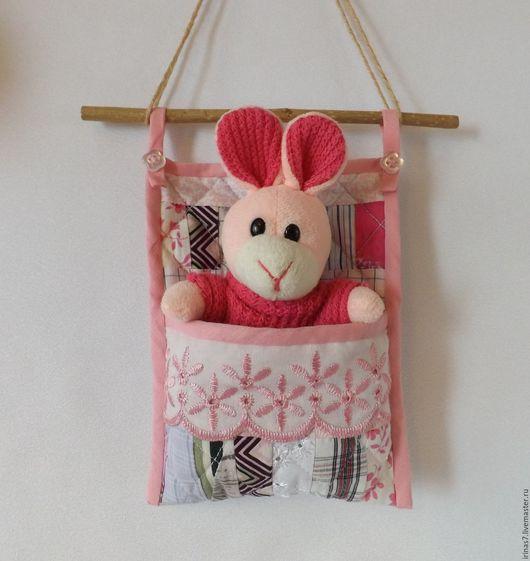 Кукольный дом ручной работы. Ярмарка Мастеров - ручная работа. Купить Лоскутный кармашек для зверюшки или пупса. Handmade.