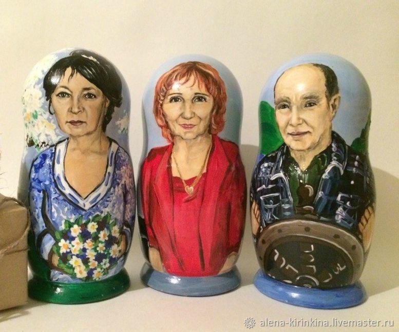 Необычный подарок: Портретные матрешки, Именные сувениры, Магнитогорск,  Фото №1