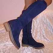 Обувь ручной работы handmade. Livemaster - original item Winter boots Italian suede with fur. Handmade.