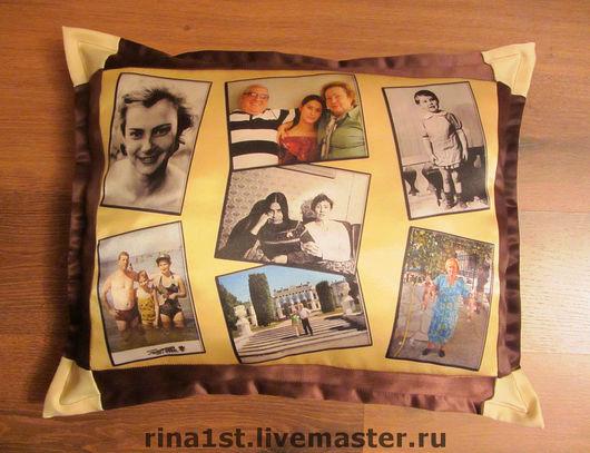 Персональные подарки ручной работы. Ярмарка Мастеров - ручная работа. Купить фото-подушка. Handmade. Принт, подушка, лоскутная подушка