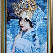 "Картины и панно handmade. Livemaster - original item Embroidered picture M.Vrubel ""The Swan Princess"". Handmade."