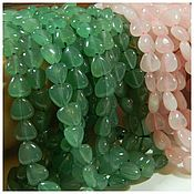 Материалы для творчества handmade. Livemaster - original item Jade Heart Beads, natural stone. pcs. Handmade.