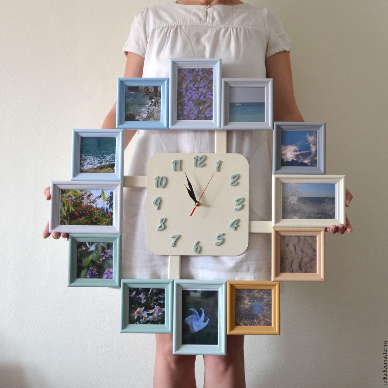 Настенные часы из фоторамок своими руками