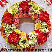 Цветы и флористика ручной работы. Ярмарка Мастеров - ручная работа Венок из цветов и ягод. Handmade.