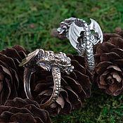 Украшения handmade. Livemaster - original item Ring Dragon. Ring dragon. Dragon Guard Ring Bronze Silver. Handmade.