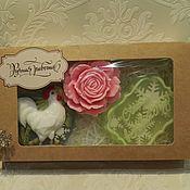 Косметика ручной работы. Ярмарка Мастеров - ручная работа набор мыла роза+петушок+счастья в новом году. Handmade.