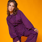 Одежда handmade. Livemaster - original item Women`s suit with the style of the 70`s