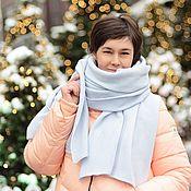 Шарфы ручной работы. Ярмарка Мастеров - ручная работа Шарф вязаный теплый уютный Новый снег. Handmade.