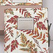 Канцелярские товары handmade. Livemaster - original item Album for herbarium Autumn forest (A4, 30 plants). Handmade.