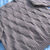 Одежда ручной работы. Ярмарка Мастеров - ручная работа Мужской пуловер большого размера. Handmade.