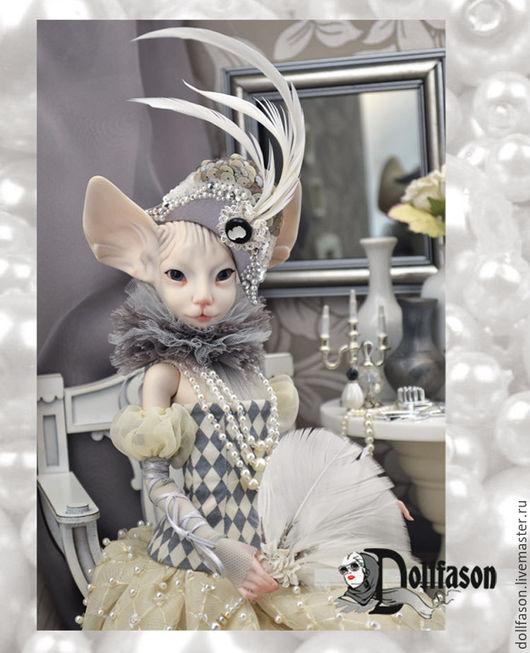 Костюм для куклы показан на коллекционной кукле Сфинкс, Triffonyartwork, от Татьяны Трифоновой.